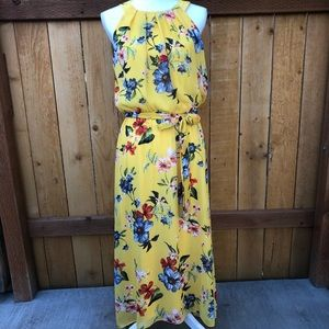 Apt. 9 Yellow Floral Maxi Dress Size Medium NWT